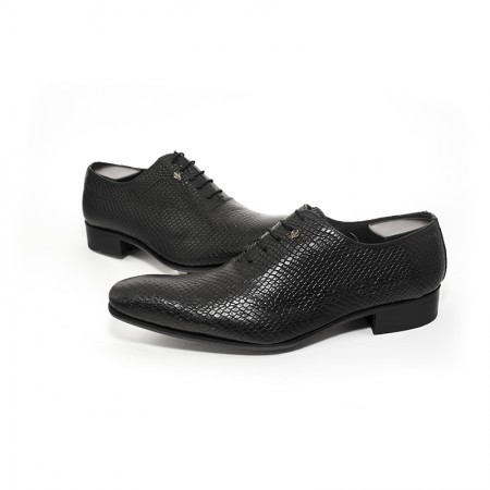 Black leather shoes leather lines Art 3