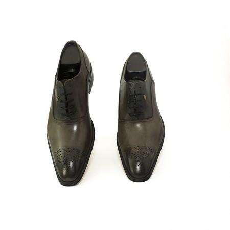 scarpe grigioscuro pelle fantasia lacci Art. 13