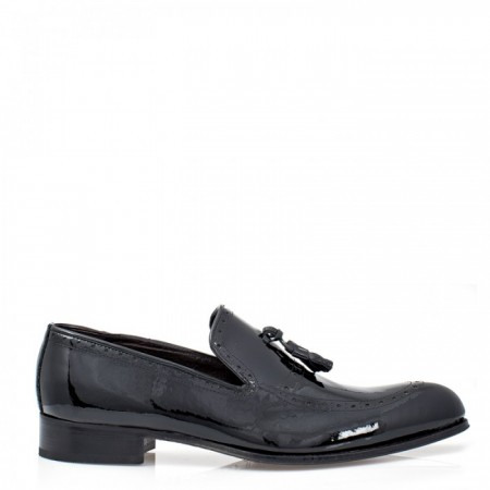 MEN'S LOAFERS IN BLACK PATENT